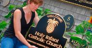 Holy Infant Catholic Church Sign-Shipped to North Carolina