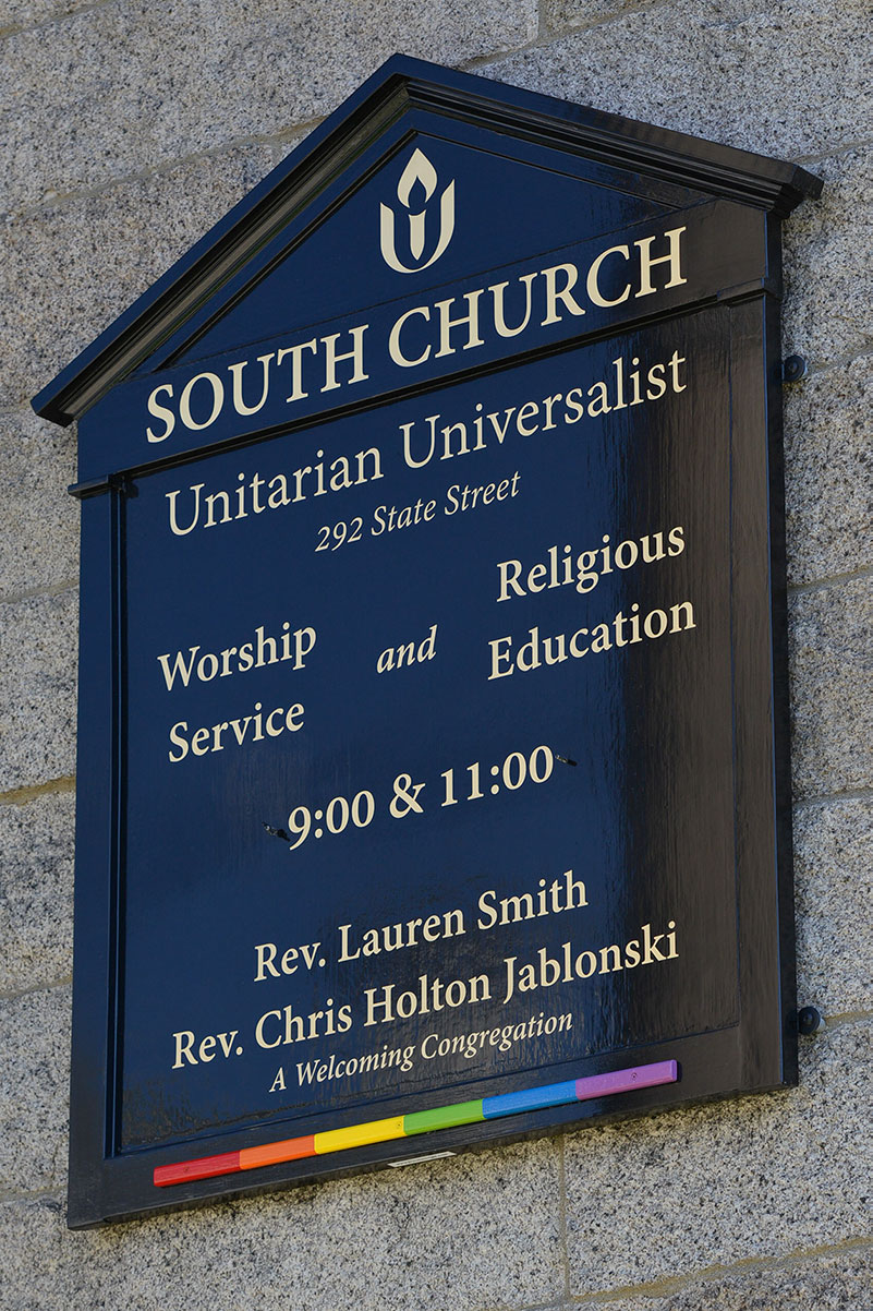 South Church Sign, Portsmouth, New Hampshire