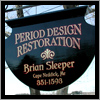 Period Design of York upgraded a flat sign with an elegant length of molding on the top.