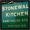 The Stonewall Kithen Warehouse Store in Rochester, NH is made from metalboard and gold vinyl.