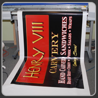 This banner was printed for Henry VIII in Kennebunkport and Portland, Maine