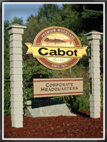 Cabot Stain corporate signs at Newburyport, MA