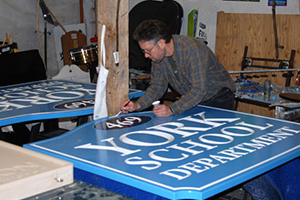 Signs created for York School Department on Route One in York, Maine